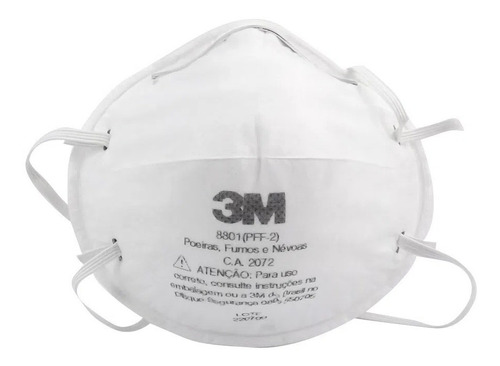 kit c/5 máscara concha 8801 pff2 n95 3m certificação inmetro