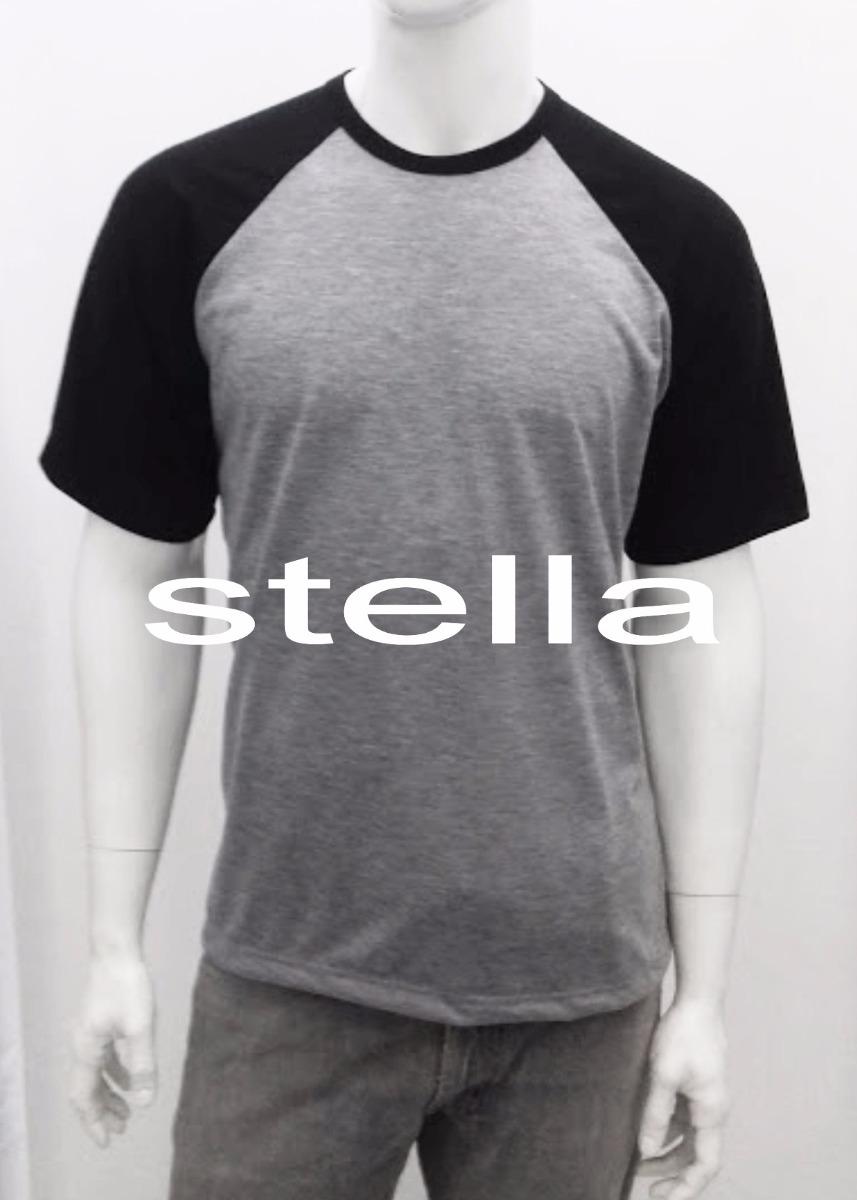 7b7cf56711 Kit C 6 Camiseta Raglan Cinza Mescla 100%poliést. Sublimação - R ...