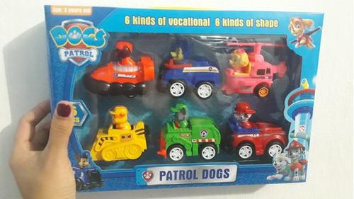 kit c/6 carrinhos dog elite series com fricção cachorrinhos