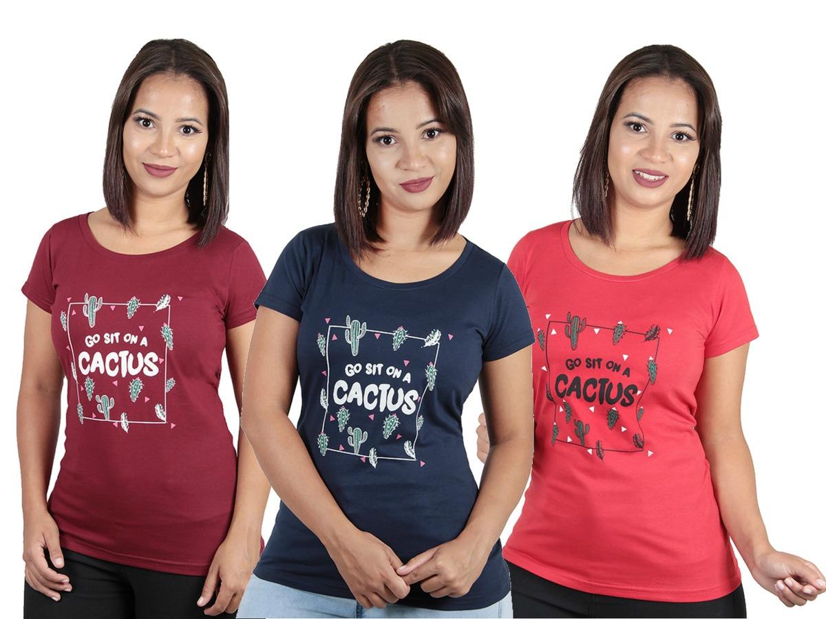 a23e0f5a8f ... comprar camiseta blusa camisa feminina estampada. Carregando zoom.