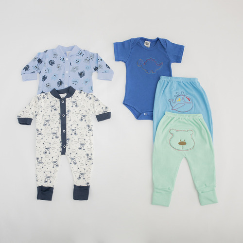 kit c/6 macacão roupas enxoval  p m g  menino(a) maternidade