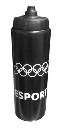 kit c/6 squeeze + cesta porta garrafas preta