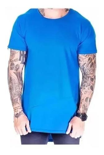 kit c/8 un camisas blusas masculinas longline oversize swag