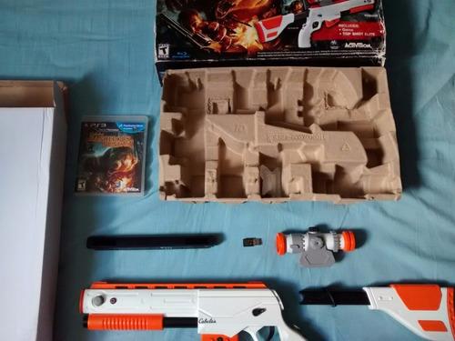 kit cabelas dangerous hunts 2011 arma gun top shot elite ps3