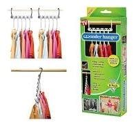 kit cabide organizador de armario 8 peças wonder hanger