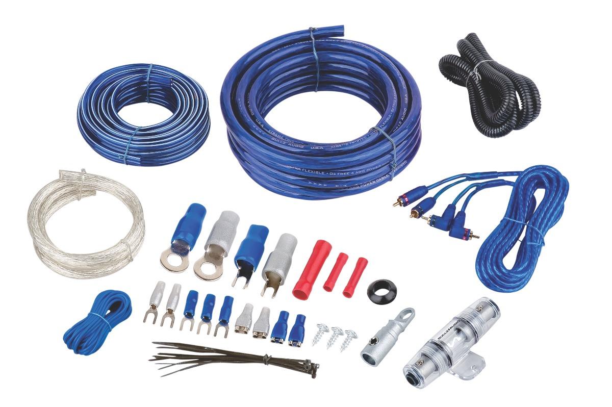 Kit Cables Cal 4 Para Amplificador Bullz Audio Epak4bl 469 00