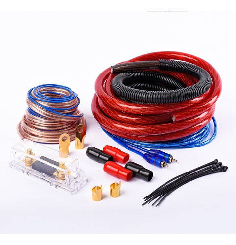 kit cables potencia 0 gauge 3500w maverick awk-0ga-b