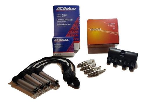 kit cables y bujias acdelco + bobina chevrolet corsa 1.4