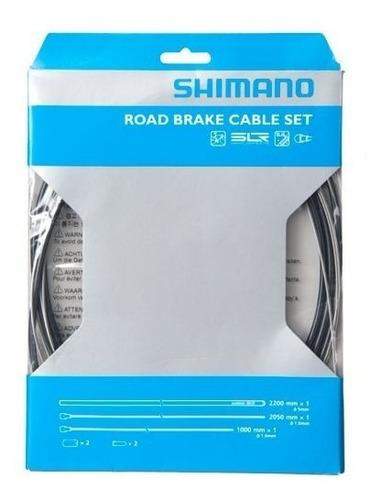 kit cables y fundas shimano para frenos de bicicleta ruta