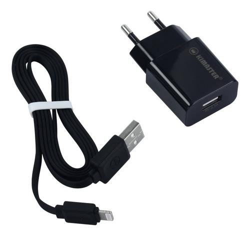 kit cabo iphone + carregador 2.1 a kimaster kt602