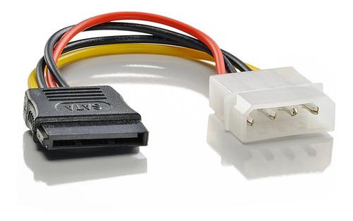 kit cabo sata de dados e força 50 cm p/ hd / ssd / gravador