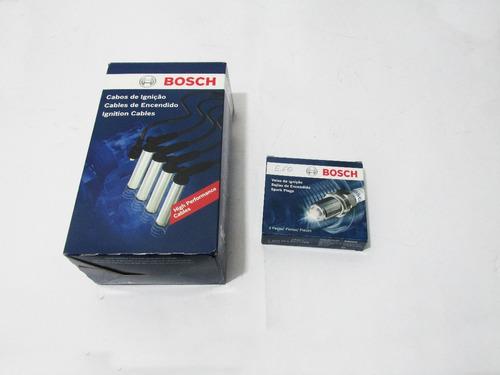 kit cabos e vela original bosch gol 1.8 1984 85 86 gasolina