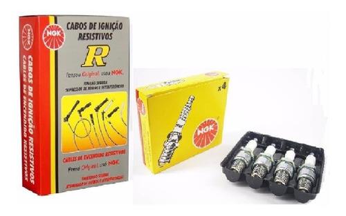 kit cabos + velas de ignição ngk blazer s-10 2.2 mpfi 97/01