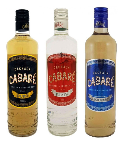 kit cachaças cabaré 700ml  oficial + brinde cabare ice