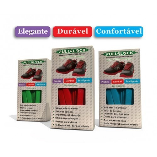 kit cadarço sem laço colorido de silicone elástico tênis 1un