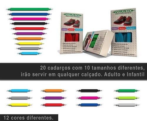 kit cadarço sem laço colorido silicone elástico tênis 1un