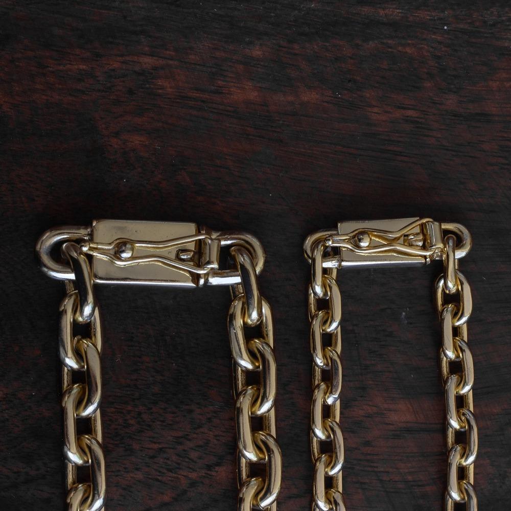 ddb784ed56e kit cadeado cartier 5mm 70cm+ pulseira 7mm banhados a ouro. Carregando zoom.