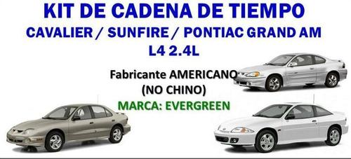kit cadena de tiempo cavalier z24 2.4l pontiac sunfire 2.4l