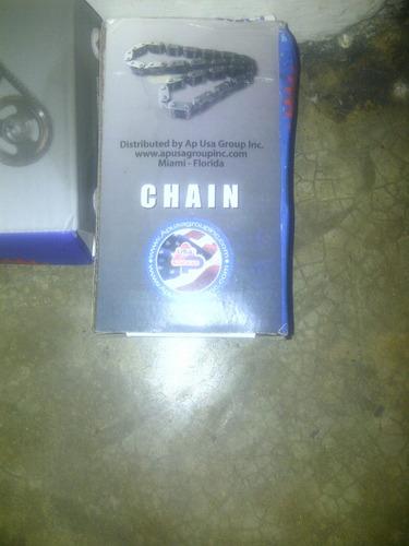 kit cadena tiempo doble  con piñon o engranaje ford 351