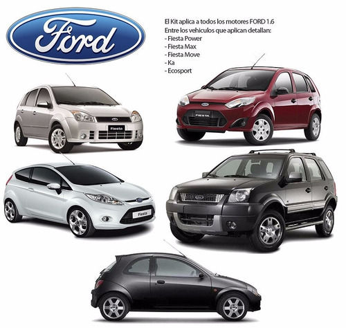 kit cadena tiempo ford 1.6 fiesta / ecosport / ka / power