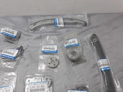 kit cadena tiempo mazda 6 motor 2.3 cadena fina 87 eslabones