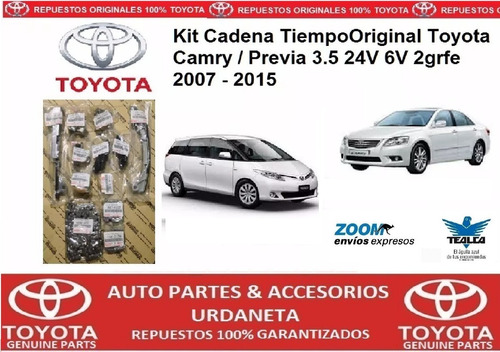 kit cadena tiempo toyota camry / previa 3.5 2grf 2007 - 2015