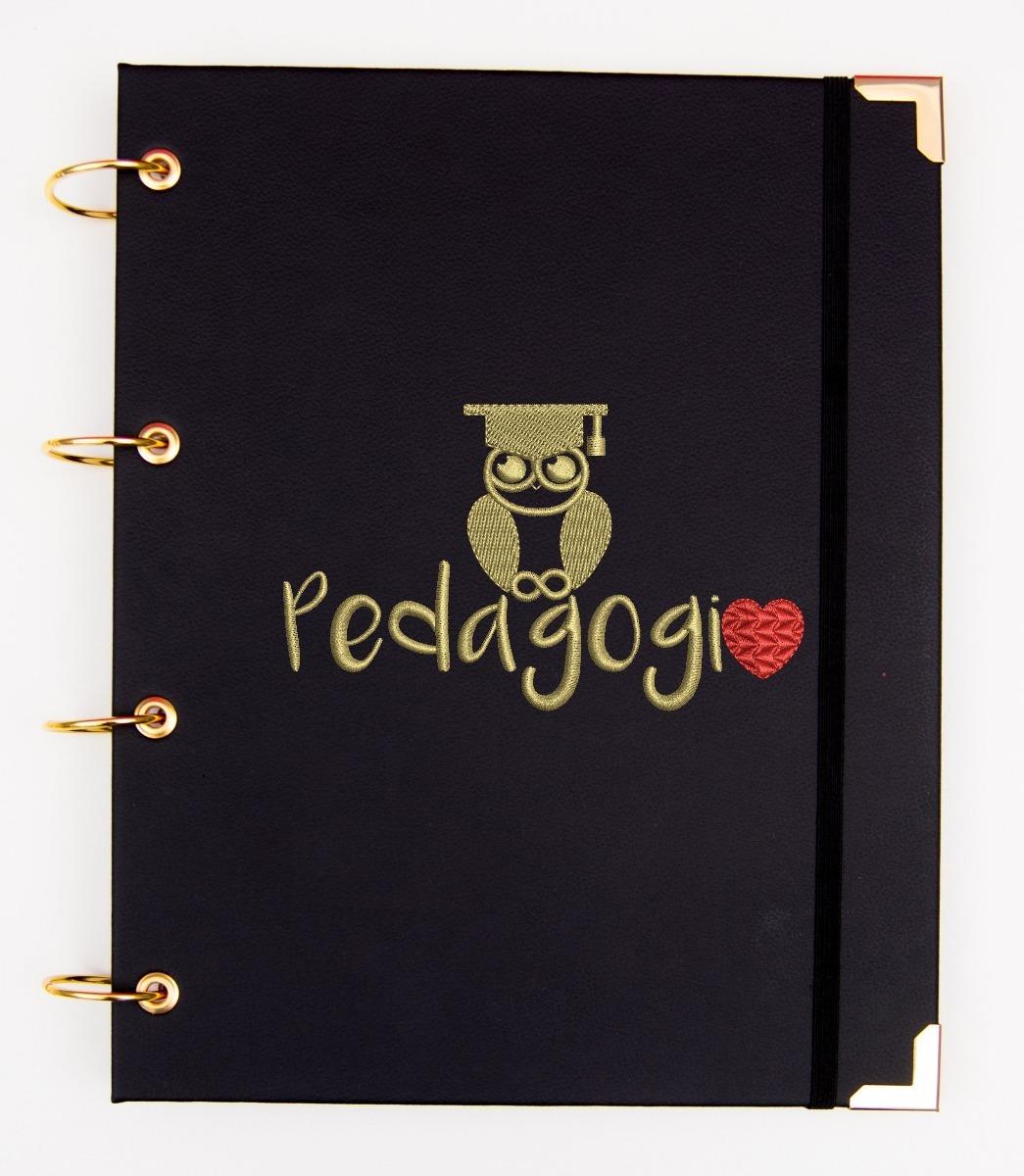 9c449ca0d79ec Carregando zoom... kit caderno argolado universitário pedagogia + camisa  polo