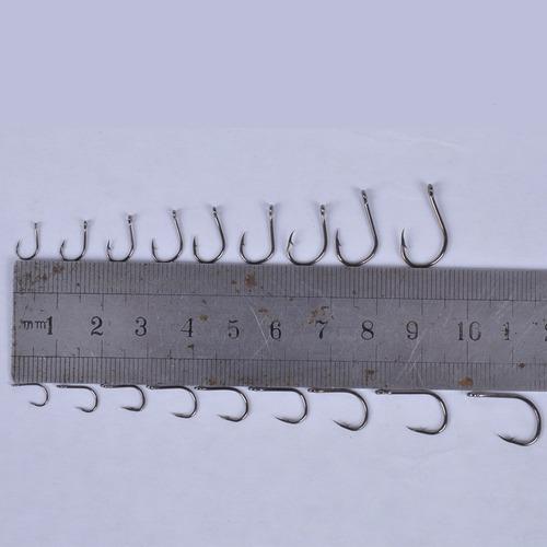 kit caixa 600 anzóis pesca preto ou dourado anzol nº 3 ao 12