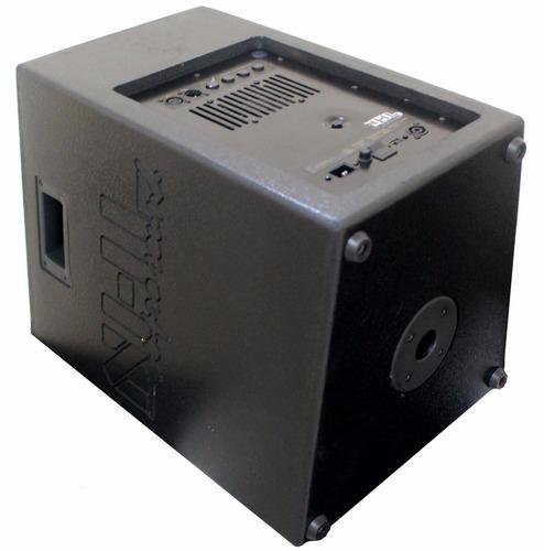 kit caixa ativa passiva 15 polegadas 1400w rms tripes cabos