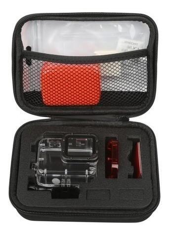 kit caixa estanque gopro hero 5 / 6 / 7 black com case