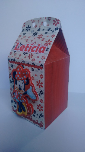 kit caixa milk 3d minnie lembrancinhas  (promocional)