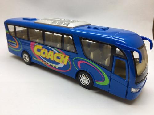 kit caixa miniatura ônibus coach com 12 unidades