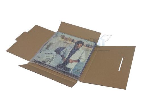 kit caixa papelao disco vinil com plastico bolha  - 10 und