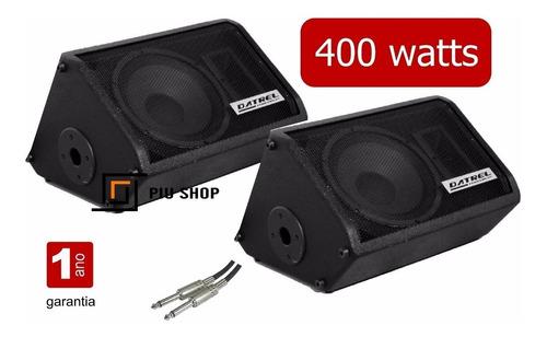 kit caixa som ativa passiva monitor retorno palco 400 watts
