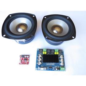 Kit Caixa Som Par Alto Falante + Amplificador + Bluetooth