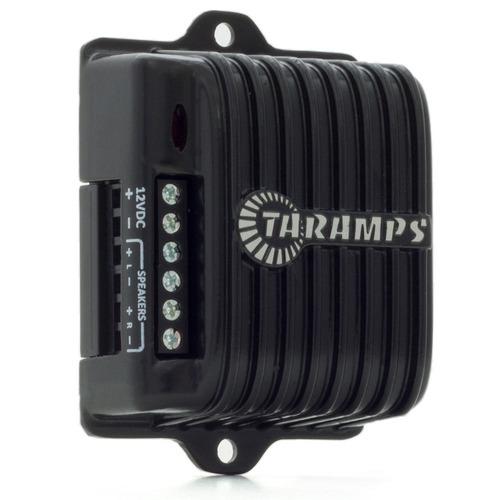 kit caixa trio automotiva 2 sub 8 + módulo taramps + cabos