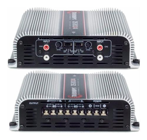 kit caixa trio completa 7000w 2 12  + 4d+ 2t + modulo 4000w