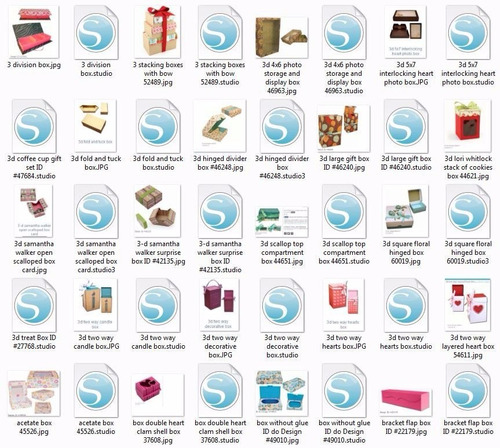 kit caixas - 620 arquivos de corte para silhouette