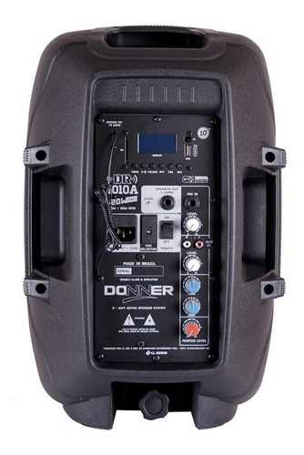 kit caixas portáteis donner ativa dr1010a + passiva dr1010p
