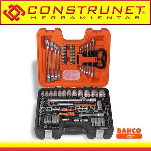 kit caja juego set herramientas llave tubos 91 pz s910 bahco