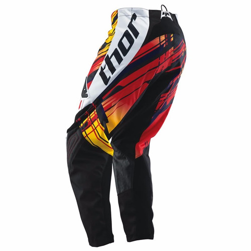 kit calça 42 + camisa m thor phase stix yellow trilha f ox