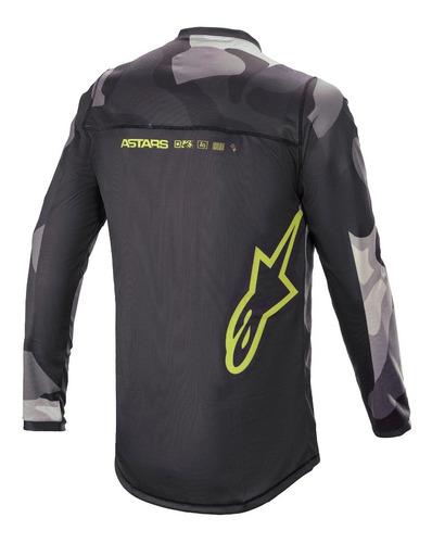 kit calça camisa alpinestars racer tactical21 camo offroad