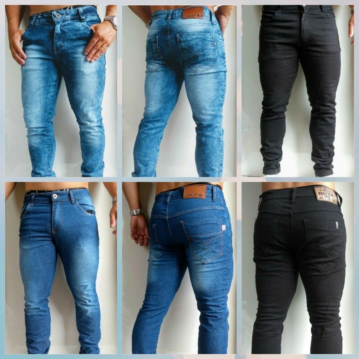 999a4cdaba915 kit calça jeans masculinas 03 peças calças com elastano. Carregando zoom.