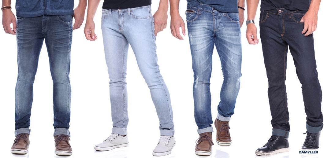 35774ae18ea6c Kit Calças Jeans Masculina 4 Pçs Skinny Outlet De Marca - R  228