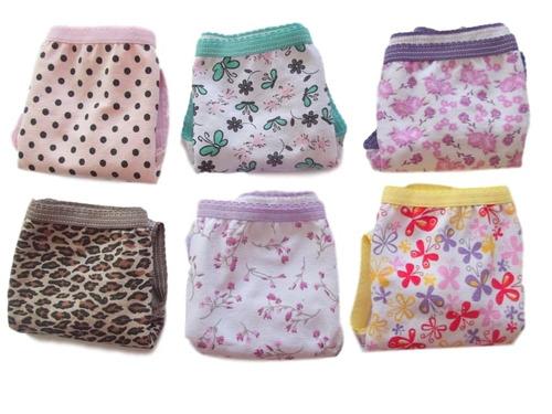 kit calcinha infantil algodão 12 peças varejo preço atacado