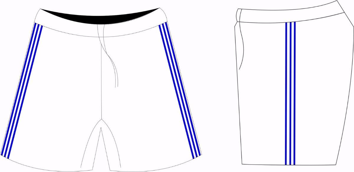 kit calção + meião branco azul futebol p - m - g - gg. Carregando zoom. 493190cfe3332