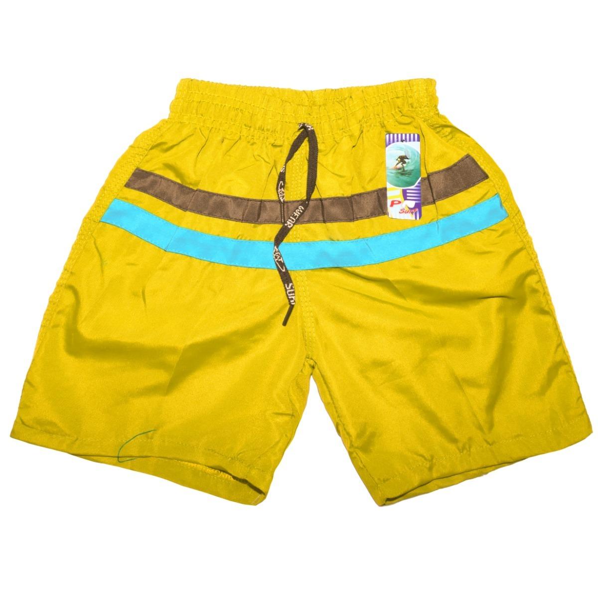 Kit Calção Short Tactel Bermuda Infantil Masculino 8 Unidad - R  67 ... e0207dc579ad4