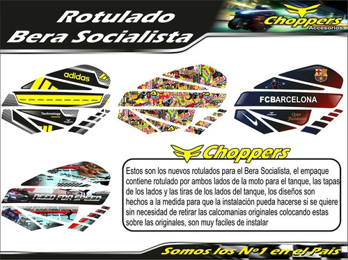kit calcomania bera socialista moto