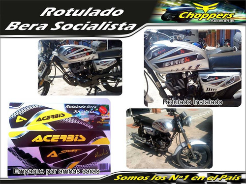 kit calcomania bera socialista moto