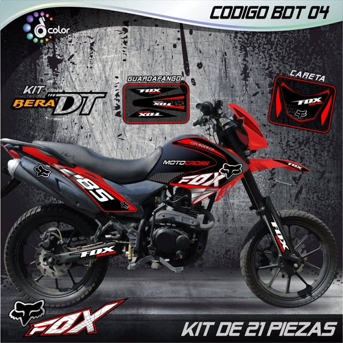 kit calcomanias bera dt 200 y md lechuza laminadas